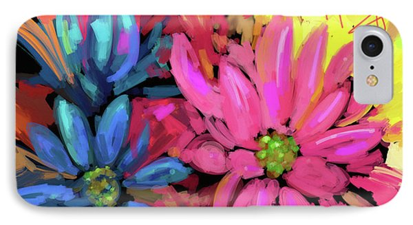 IPhone Case featuring the painting Pink Flower by DC Langer