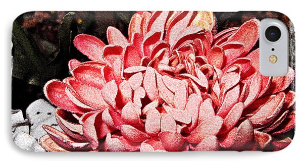 IPhone Case featuring the photograph Pink Flower by Joan  Minchak