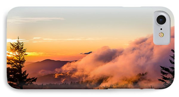Pink Fog At Clingmans Dome IPhone Case by Shelby Young