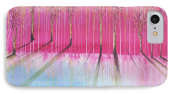 Pink Forest IPhone Case by Cat Crimson
