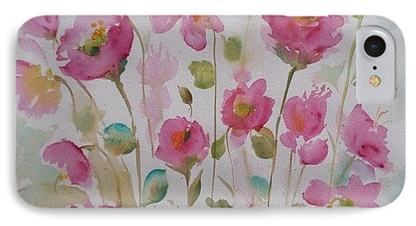 Pink Garden 2  IPhone Case by Kathy  Karas