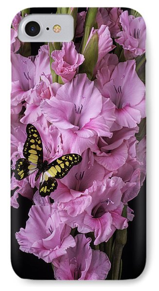 Pink Glads And Butterfly IPhone Case