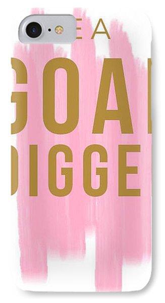 Pink Goal Digger IPhone Case by Elizabeth Taylor