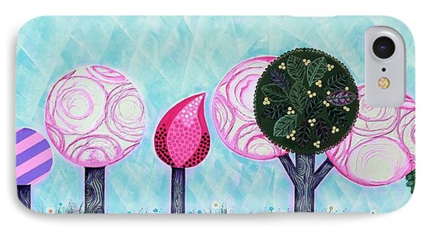 Pink Grove IPhone Case by Graciela Bello