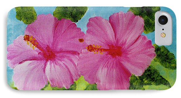 Pink Hawaiian Hibiscus Flower #23 Phone Case by Donald k Hall