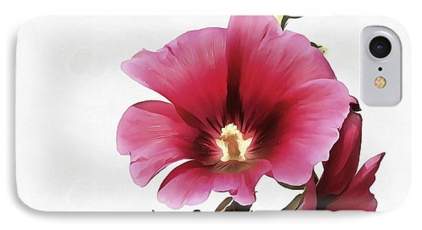 Pink Hollyhock IPhone Case by Tracey Harrington-Simpson
