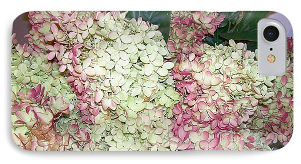 IPhone Case featuring the digital art Pink Hydrangeas by Barbara S Nickerson