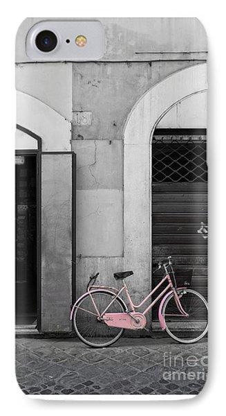 Pink Italian Bike IPhone Case