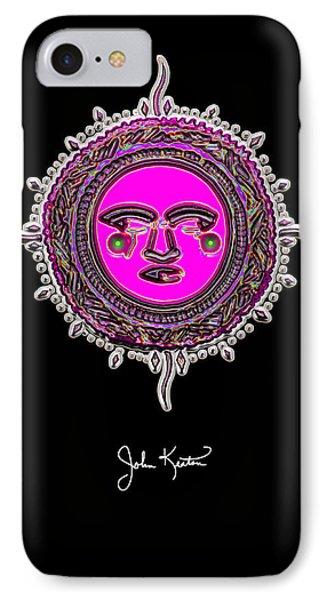Pink Jewel Mohawk Sun Phone Case by John Keaton