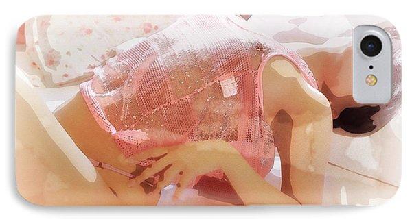 Pink Lady IPhone Case by Kiran Joshi