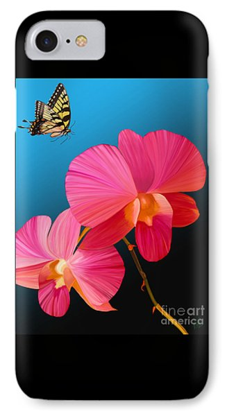 Pink Lux Butterfly IPhone Case