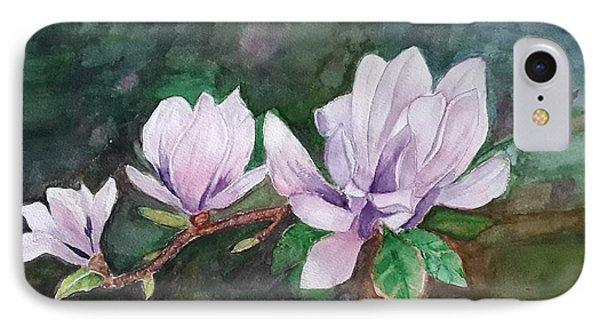 Pink Magnolia - Painting IPhone Case