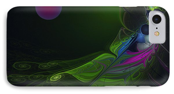 IPhone Case featuring the digital art Pink Moon by Karin Kuhlmann