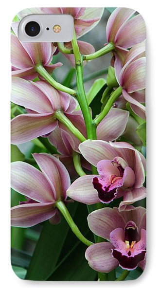 IPhone Case featuring the photograph Pink Orchids 2 by Ann Bridges