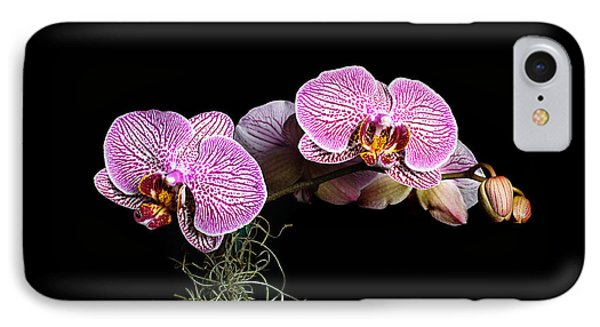 IPhone Case featuring the photograph Pink Orchids by Gary Dean Mercer Clark