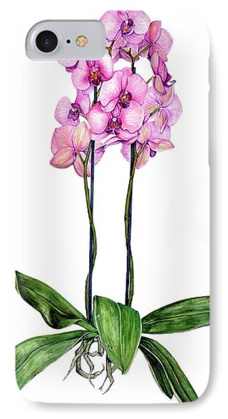 IPhone Case featuring the painting Pink Orchids by Heidi Kriel