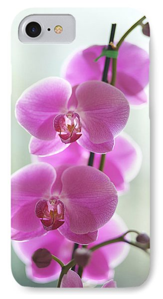 Pink Orchids Phone Case by Kicka Witte - Printscapes