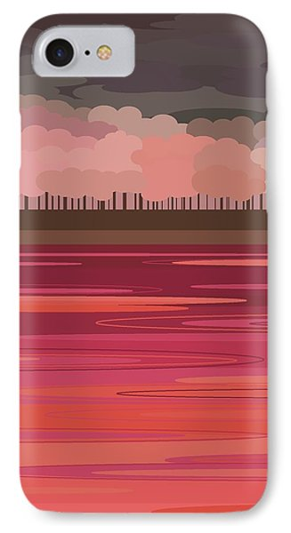 Pink Park IPhone Case by Val Arie