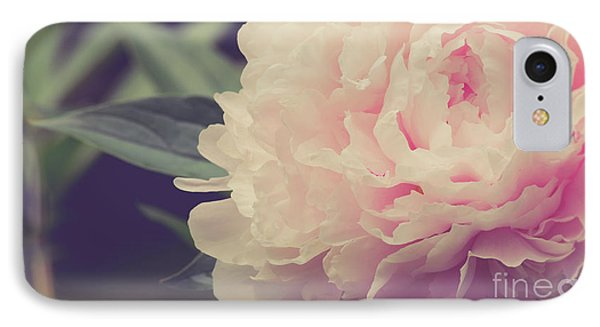 IPhone Case featuring the photograph Pink Peony Vintage Style by Edward Fielding