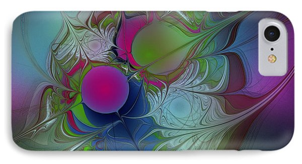IPhone Case featuring the digital art Pink Ping Pong Ball by Karin Kuhlmann