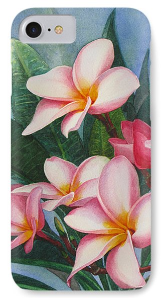 Pink Plumerias Phone Case by Karen  Sioson