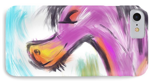 IPhone Case featuring the digital art Pink Pony by Marti McGinnis