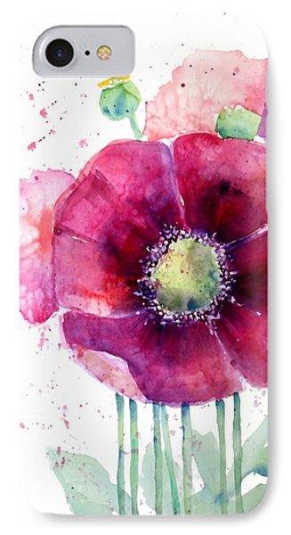 Pink Poppies Phone Case by Arline Wagner