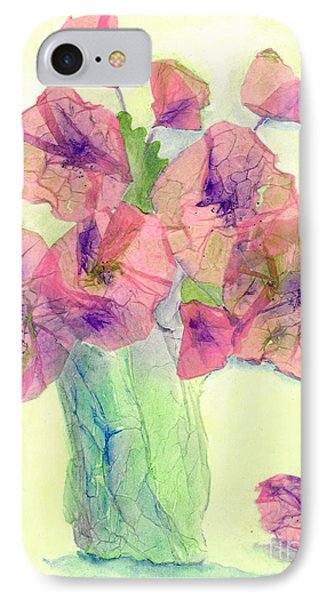 Pink Poppies IPhone Case by Veronica Rickard