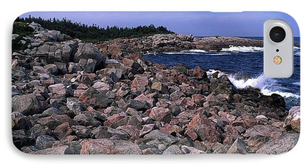 Pink Rock Shoreline Phone Case by Sally Weigand