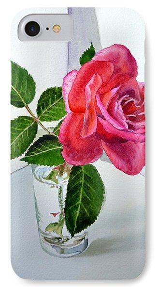 Rose iPhone 7 Case - Pink Rose by Irina Sztukowski