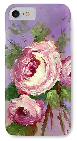 Pink Rose IPhone Case by Janet Garcia