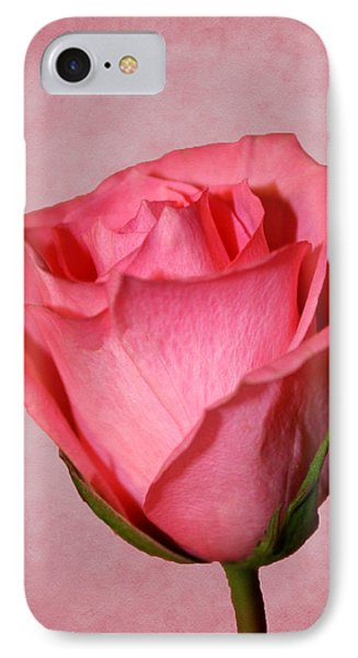 IPhone Case featuring the photograph Pink Rose by Judy Vincent