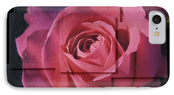 Pink Rose Photo Sculpture IPhone Case by Michael Bessler