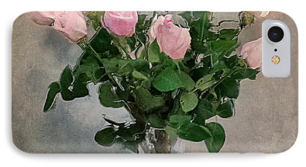 IPhone Case featuring the digital art Pink Roses by Alexis Rotella