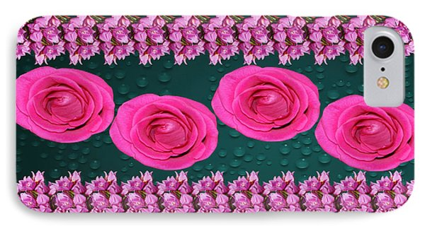 Pink Roses Floral Display IPhone Case