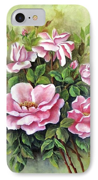 Pink Roses IPhone Case by Katia Aho