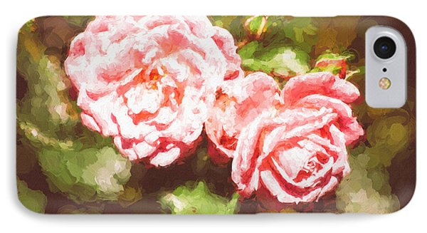 Pink Roses Painterly IPhone Case