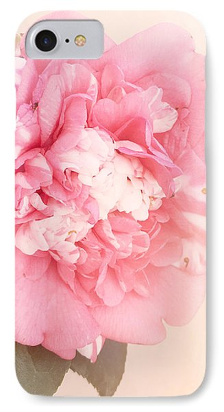 IPhone Case featuring the photograph Pink Ruffled Camellia by Cindy Garber Iverson