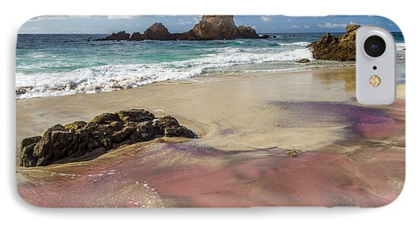 Pink Sand Beach In Big Sur IPhone Case by Pierre Leclerc Photography