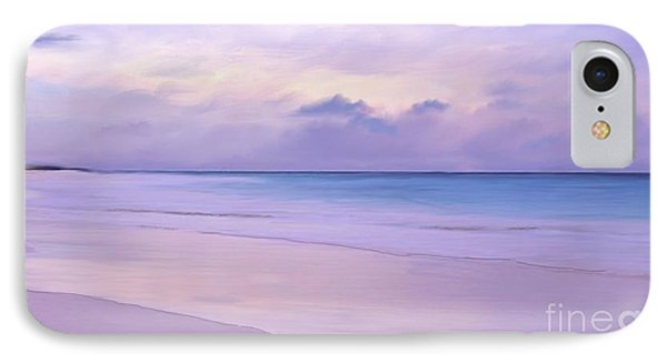 Pink Sand Purple Clouds Beach IPhone Case by Anthony Fishburne