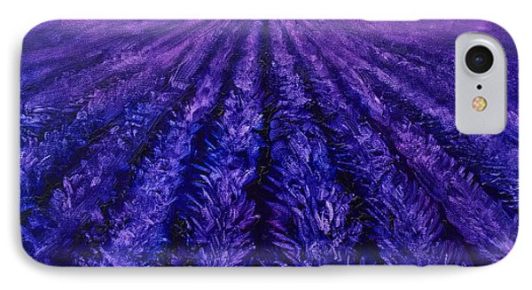 Pink Skies - Lavender Fields IPhone Case