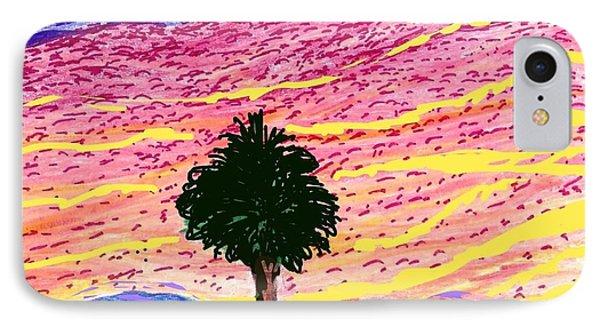 Pink Sky October  IPhone Case