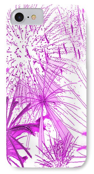 Pink Splash Watercolor IPhone Case by Methune Hively