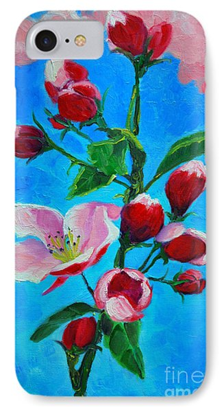 IPhone Case featuring the painting Pink Spring by Ana Maria Edulescu