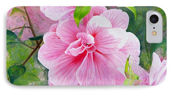 Pink Swirl Garden IPhone Case