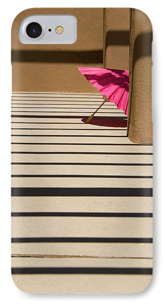 Pink Umbrella IPhone Case by Carolyn Dalessandro