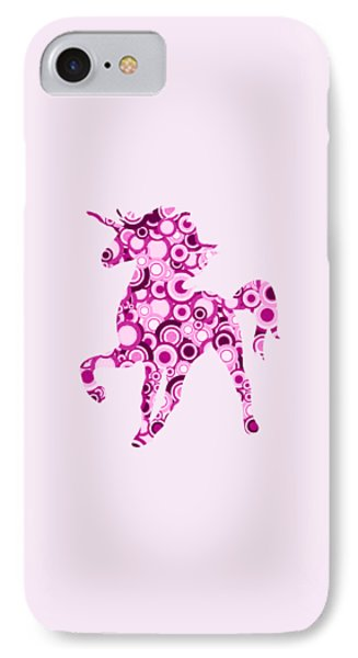 Pink Unicorn - Animal Art IPhone Case by Anastasiya Malakhova