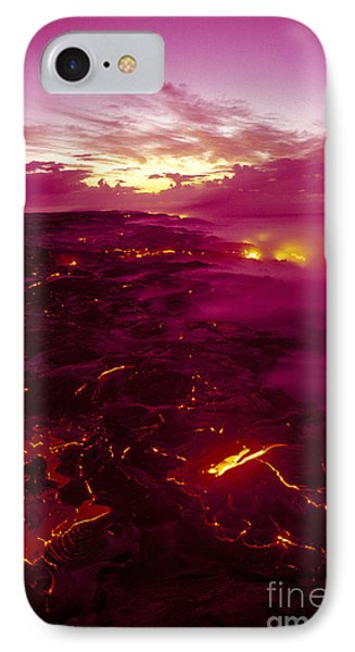 Pink Volcano Sunrise Phone Case by Ron Dahlquist - Printscapes