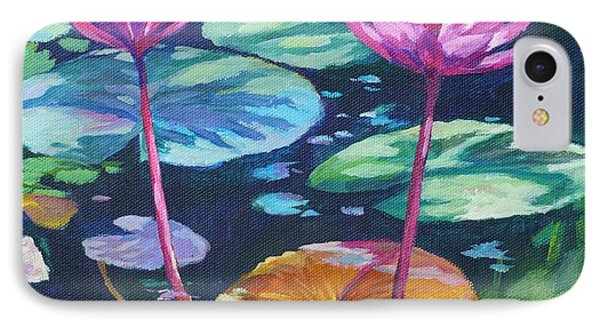 Pink Water Lilies Square IPhone Case