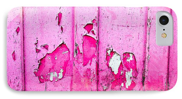 Pink Wood With Peeling Paint  IPhone Case